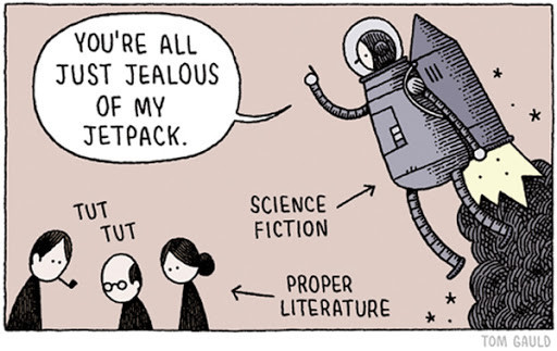 You're All Just Jealous of My Jetpack - comics by Tom Gauld