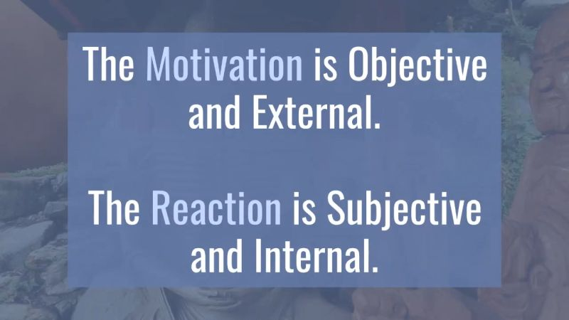 The motivation is objective